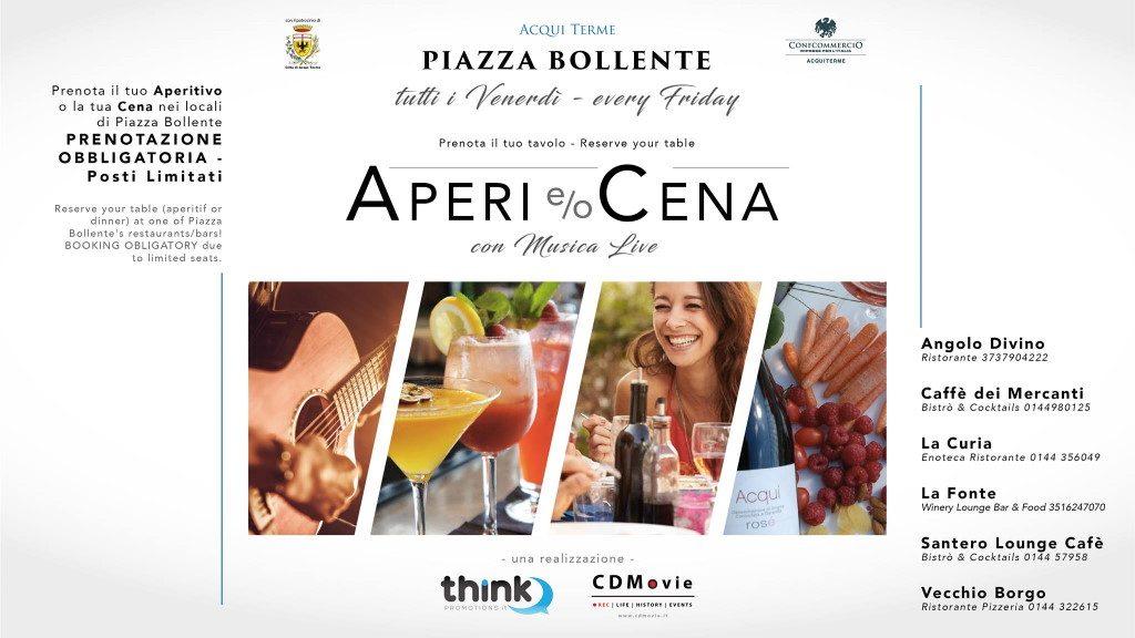 aperi o cena di Piazza Bollente Acqui Terme